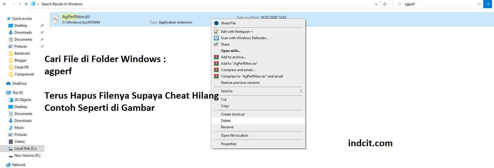 Cara Manual MEnghilangkan Cheat